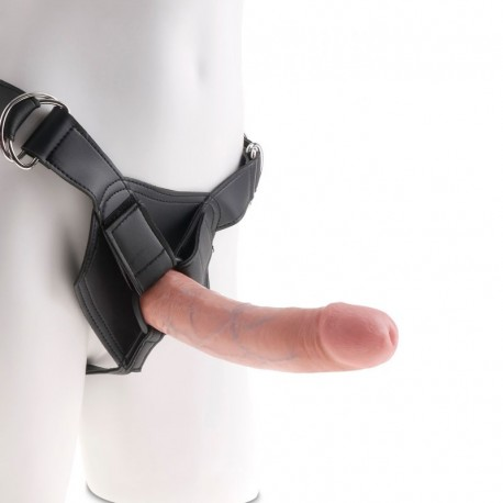 Realistic Strap-on flesh color 20cm - King Cock