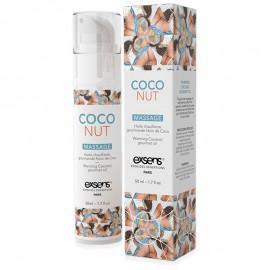 Exsens Huile de massage chauffante et gourmande - Coconut