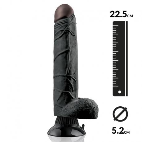 Dildo con ventosa 22.5cm - Pipedream Real Feel Deluxe Noir N° 7