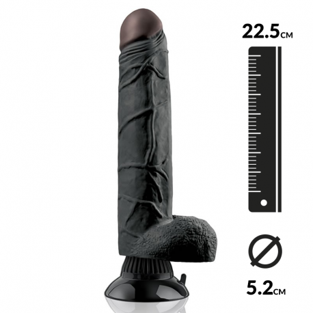 Saugnapf-Dildo 22.5cm - Pipedream Real Feel Deluxe Noir N° 7