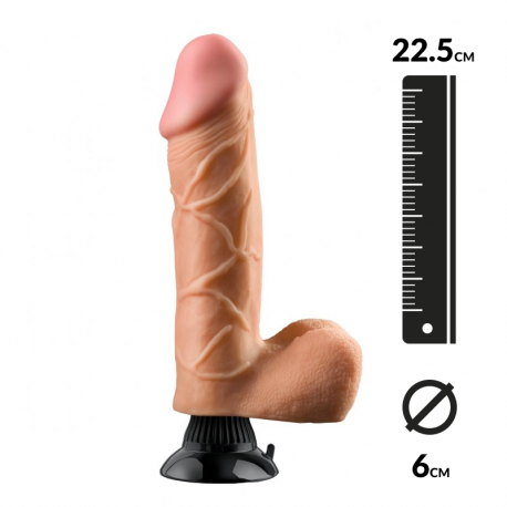 Realistic Vibrator Flesh 21cm – Pipedream Real Feel N° 10