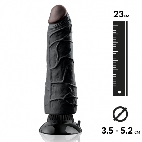 Saugnapf-Dildo Anal 18.5cm Schwarz - Pipedream Real Feel Deluxe N°3