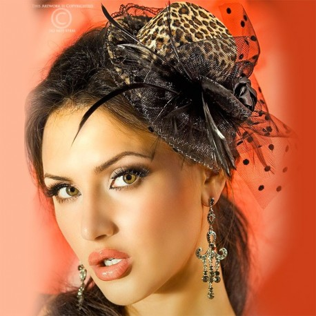 Mini burlesque hat CR-3262 - Chilirose