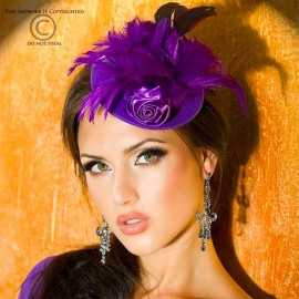 Mini burlesque hat CR-3261 Fuchia - Chilirose