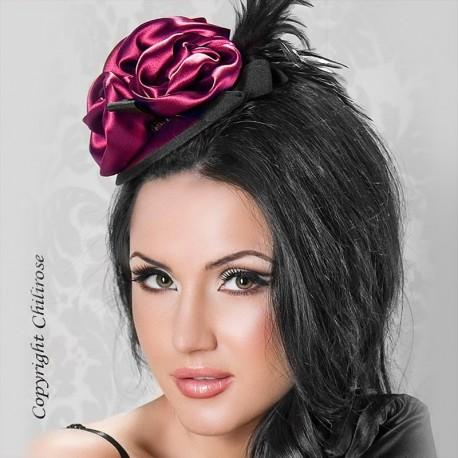 Mini burlesque hat CR-3232 Violet - Chilirose
