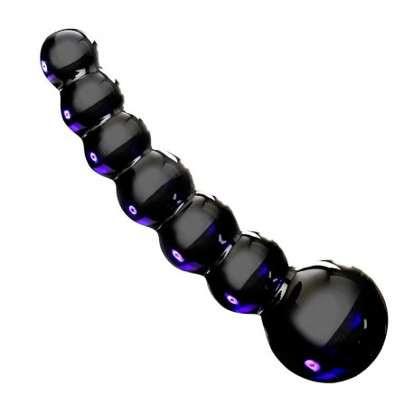 Anal Glass Dildo Black - Icicles N°66