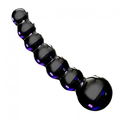 Dildo anal en verre Noir - Icicles N°66