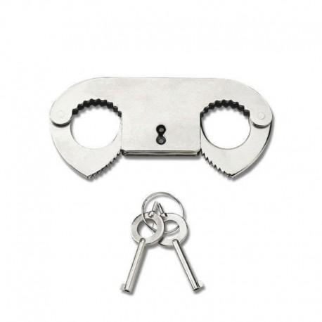 Handschel Metal Thumb Cuffs - Pipedream