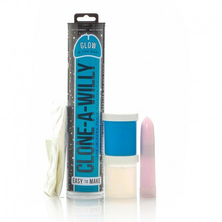 Clone A Willy Glow-in-the-Dark Bleu - Kit moulage pénis