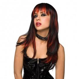 Perruques fantaisie noire cheveux longs - Courtney
