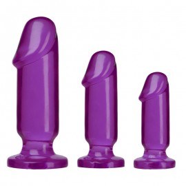 Butt Plug Starter Kit Violet - Doc Johnson