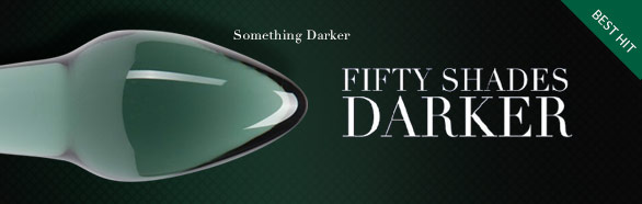 Analplug aus Glas Something Darker - Fifty Shades of Grey