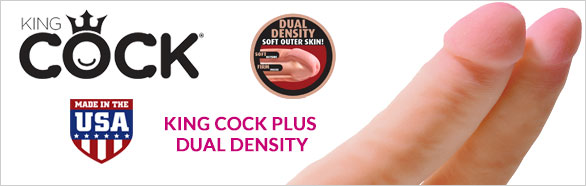 King Cock Plus Dual Density - Pipedream